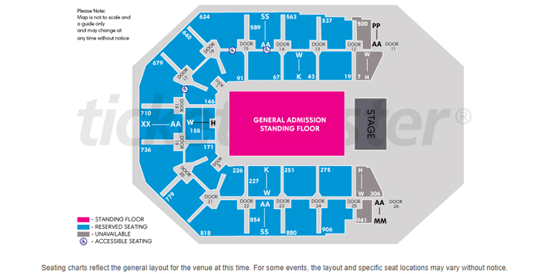 Spark Arena - Seating Plan on